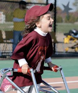 Little Girl Running Bases